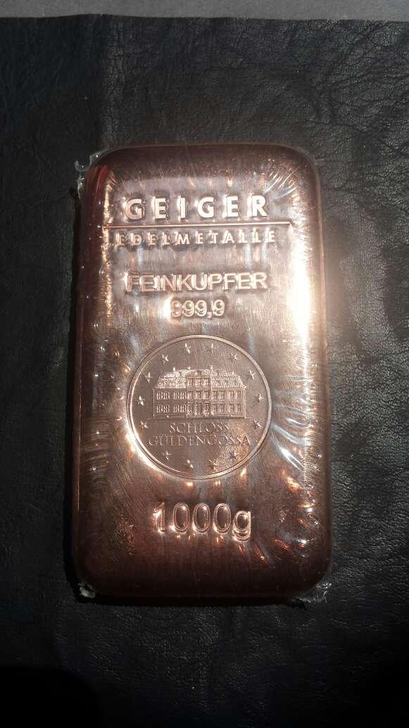 Imagen Lingote de cobre de 1 kilo