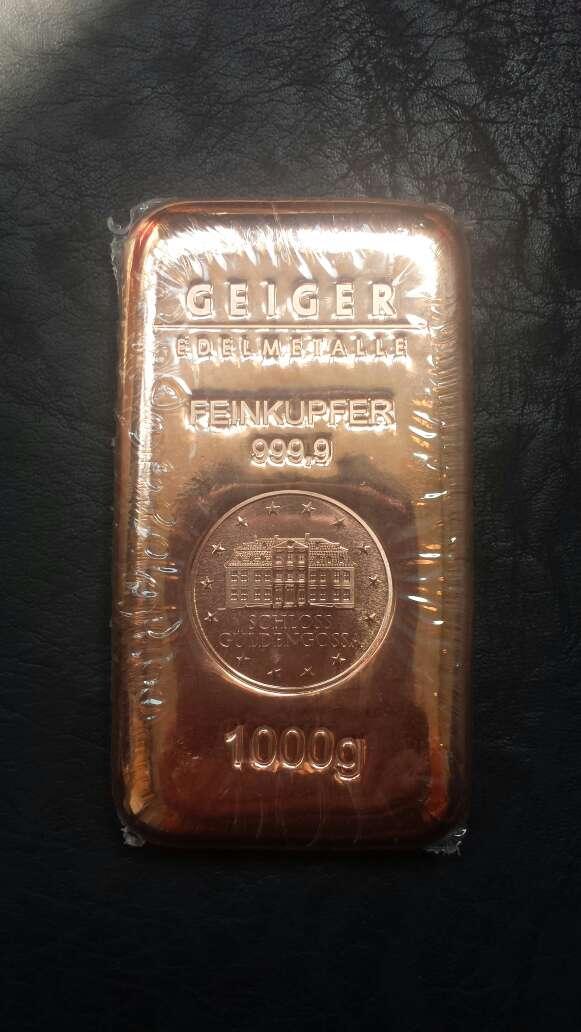Imagen producto Lingote de cobre de 1 kilo  2