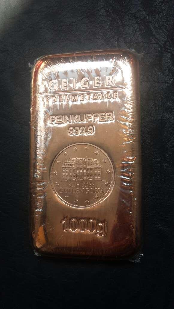 Imagen producto Lingote de cobre de 1 kilo  3