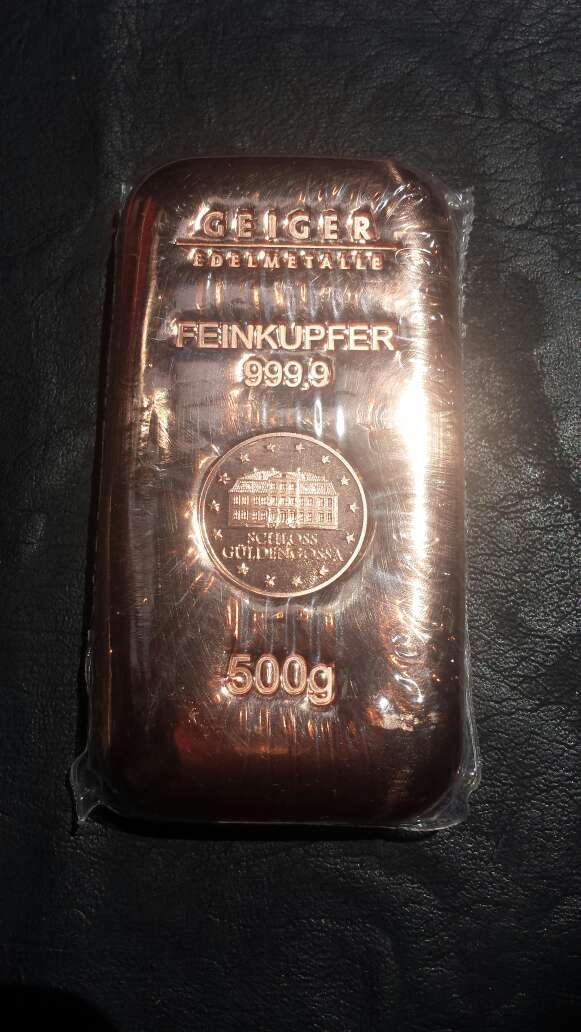 Imagen producto Lingote de cobre máxima pureza  4