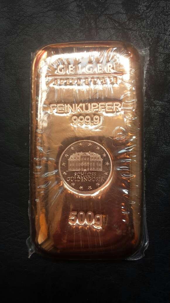 Imagen producto Lingote de cobre máxima pureza  3
