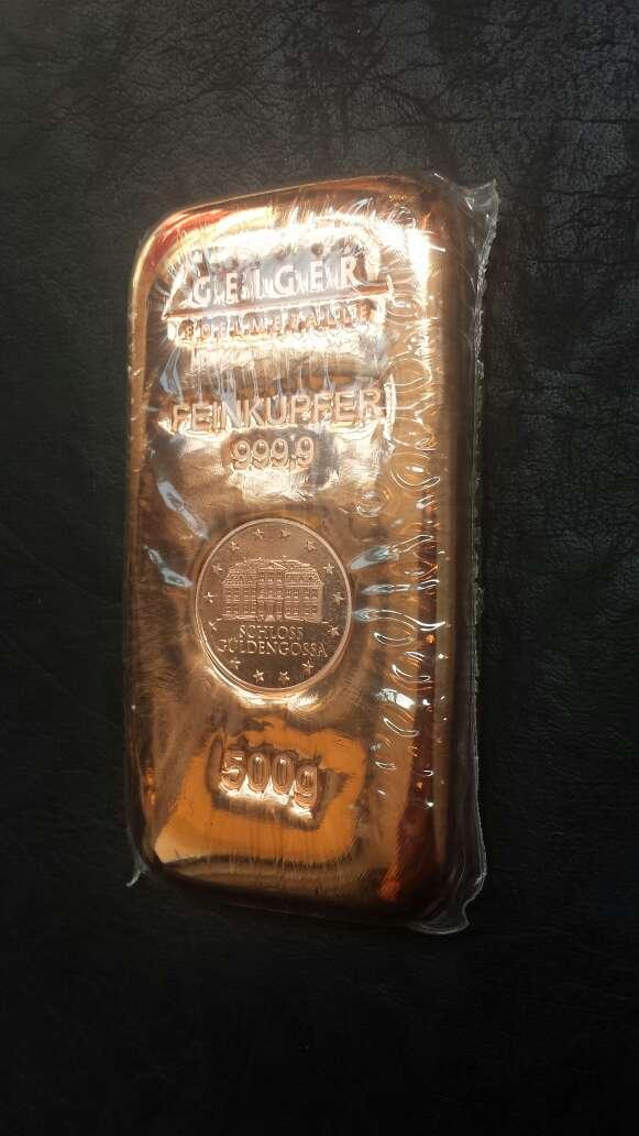 Imagen producto Lingote de cobre máxima pureza  2