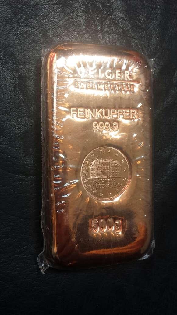 Imagen Lingote de cobre máxima pureza