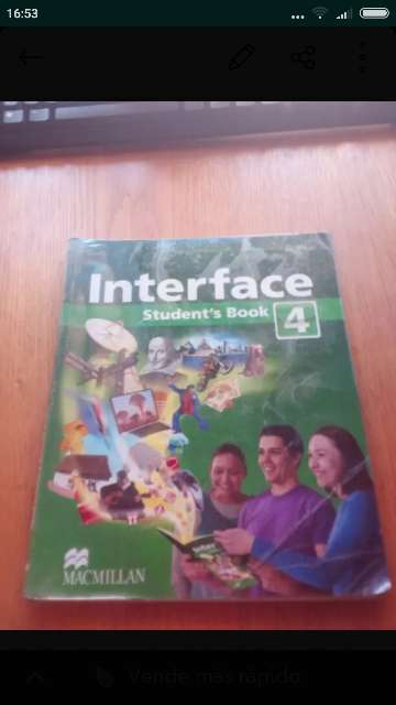 Imagen libros de inglés interface 4°eso