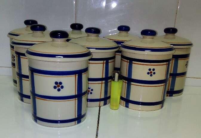 Imagen Juego 8 Tarros para la Cocina