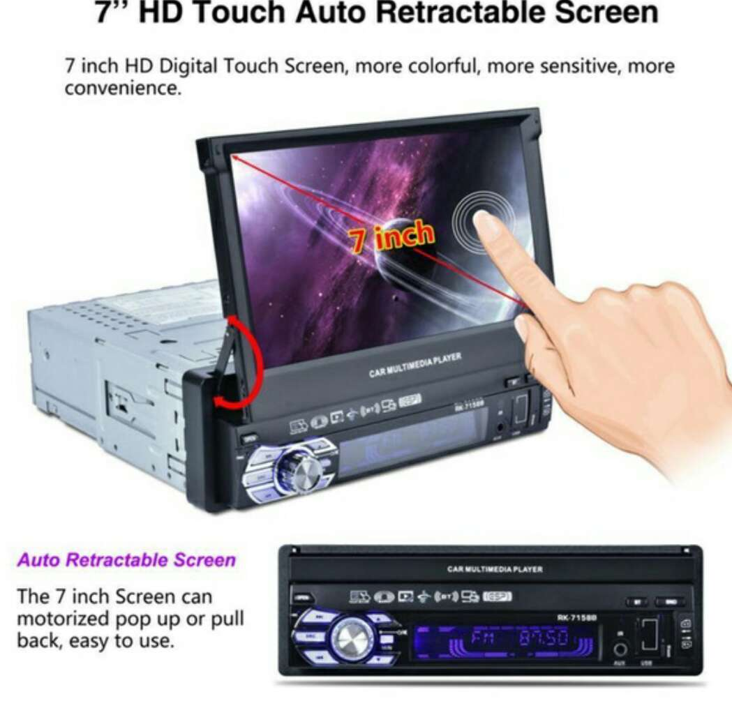 Imagen producto Radio multimedia pantalla hd de 7 con gps  2