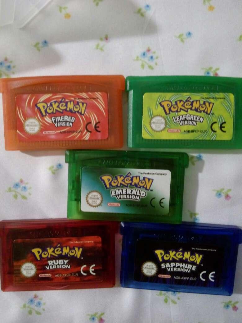Imagen juegos pokemon gba