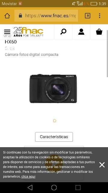 Imagen cámara de Sony cybershot