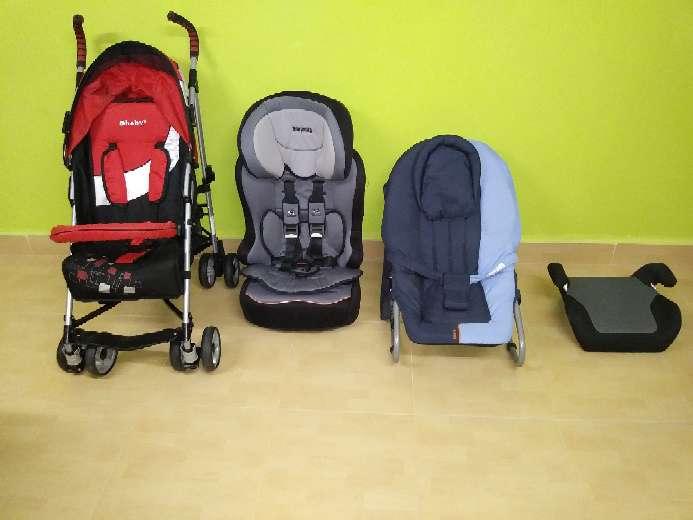 Imagen Vendo cochecito de bebé, mecedora, y sillines del coche