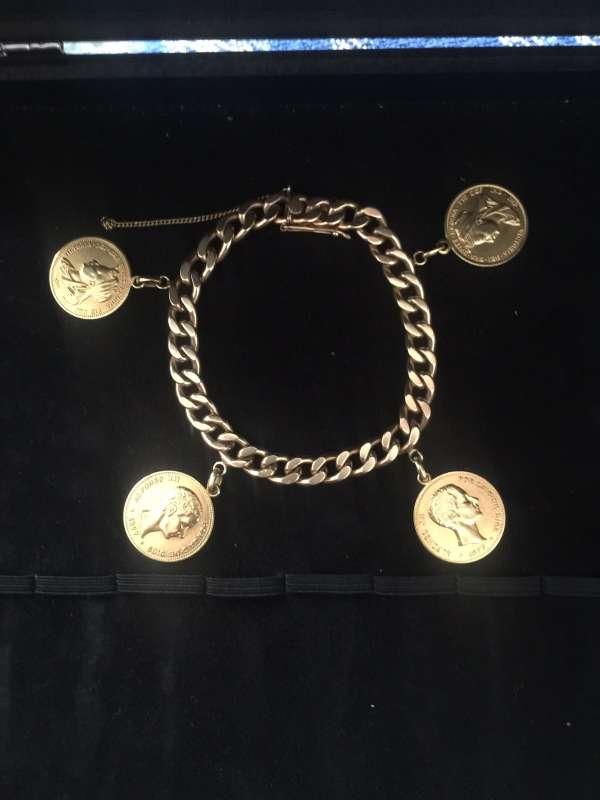 Imagen Pulsera de oro con moneditas