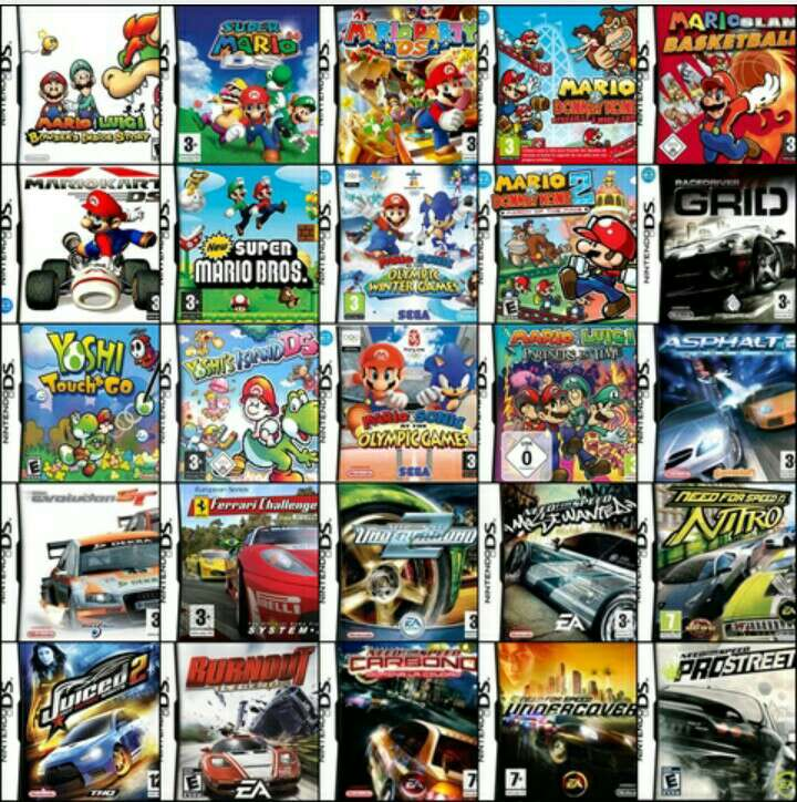 Imagen juegos ds 170 juegos