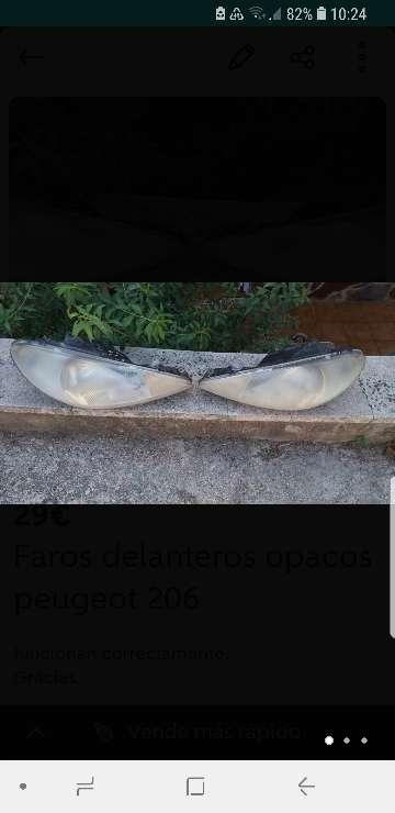 Imagen Faros delanteros opacos Peugeot 206