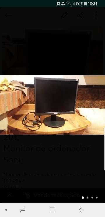 Imagen Monitor de ordenador Sony
