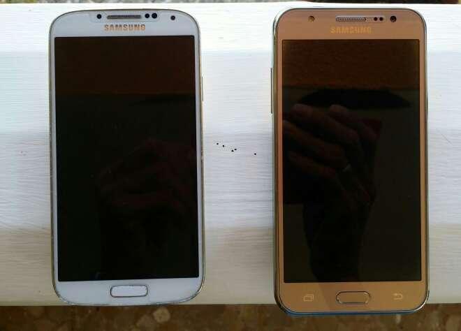 Imagen 2 móvil 1 es Samsung el S4 y el otro Samsung J5