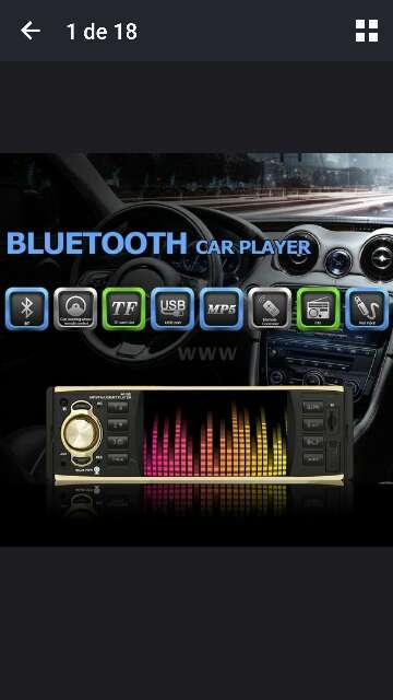 Imagen radio multimedia pantalla hd 4.1 para coche