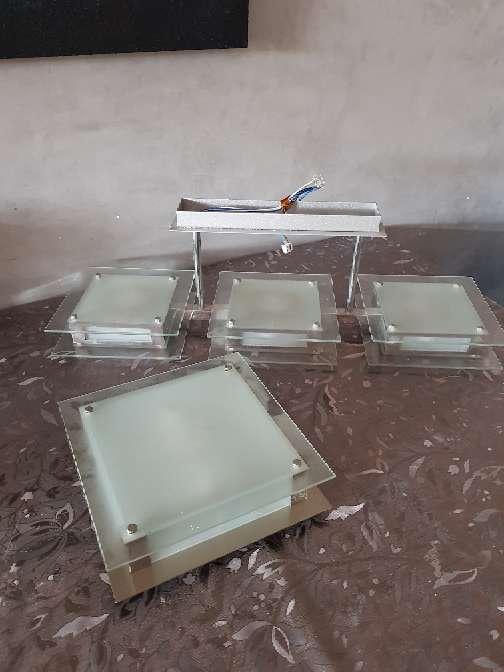 Imagen conjunto lampara halogenas cristal