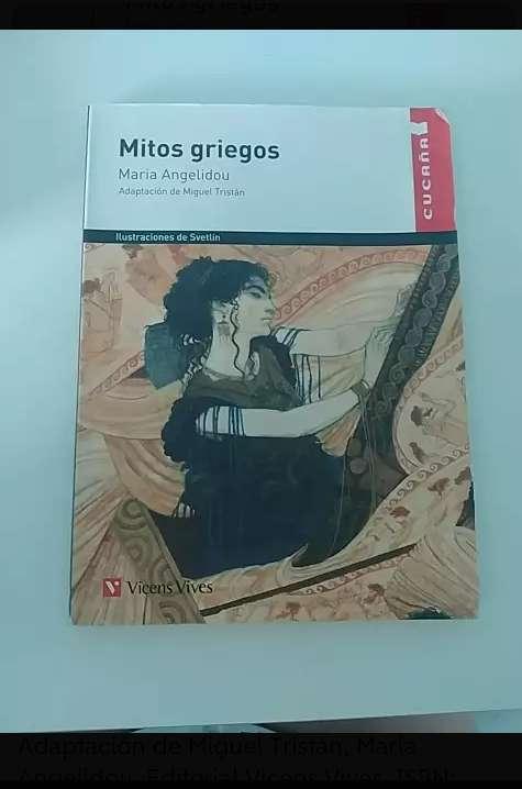 Imagen Libro de lectura Mitos Griegos
