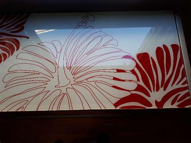 Imagen producto Mesa Cristal Decorado 2