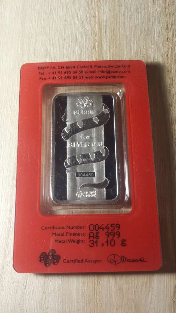 Imagen producto Onzas de plata pura 999 PAMP suisse  3