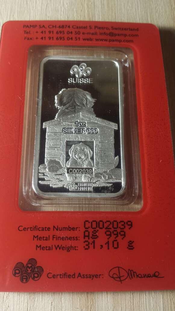 Imagen producto Onzas de plata pura 999 PAMP suisse  5