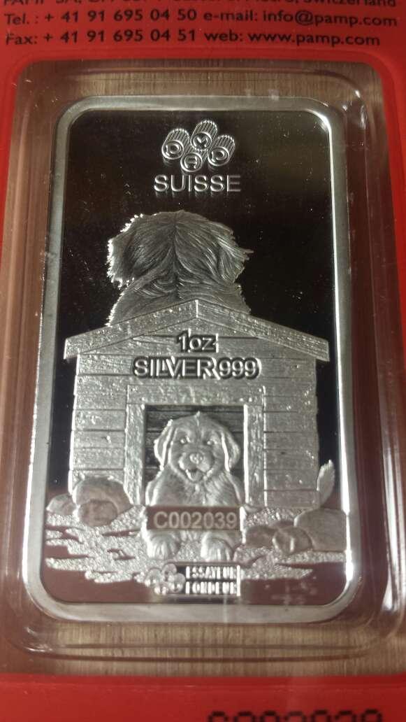 Imagen producto Onzas de plata pura 999 PAMP suisse  9