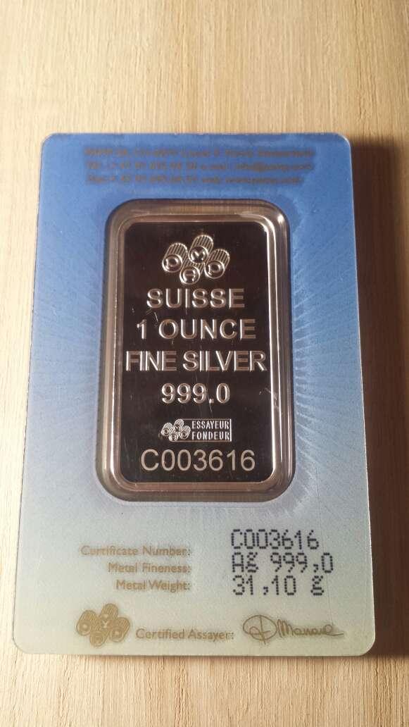 Imagen producto Onzas de plata pura 999 PAMP suisse  8