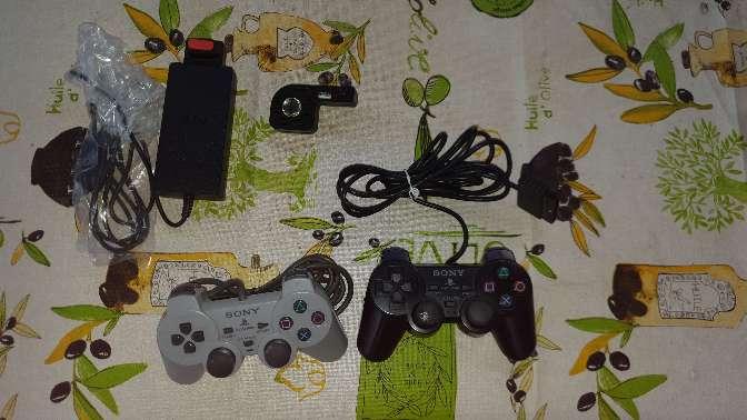 Imagen Ps2 slim con caja 2 mandos  juegos