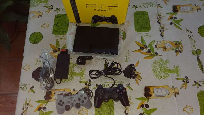 Imagen producto Ps2 slim con caja 2 mandos  juegos 2