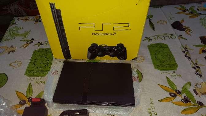 Imagen producto Ps2 slim con caja 2 mandos  juegos 4