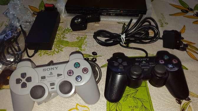 Imagen producto Ps2 slim con caja 2 mandos  juegos 3