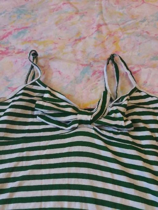 Imagen producto Camiseta de tirantes verde y blanca 4