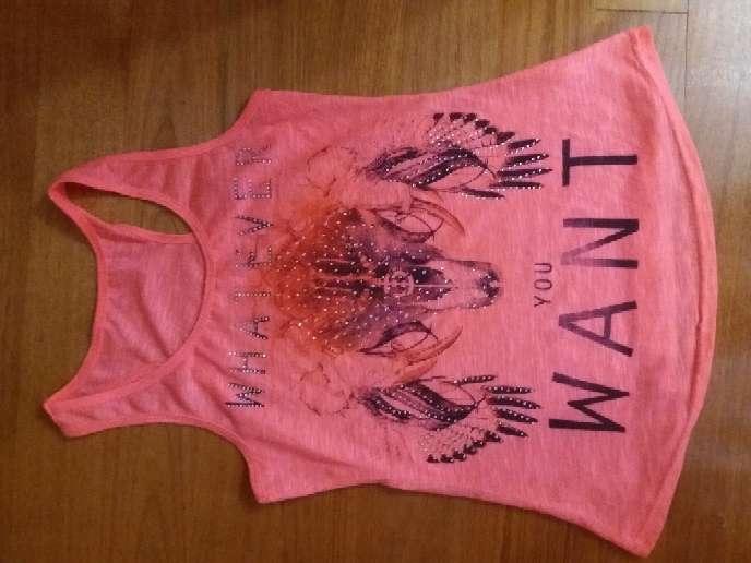 Imagen camiseta de tirantes Rosa fosforito