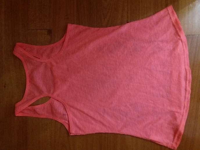 Imagen producto Camiseta de tirantes Rosa fosforito 3