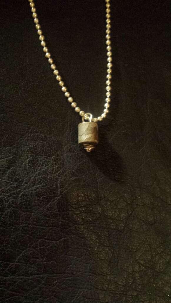 Imagen producto Widmanstätten meteorito colgante  5