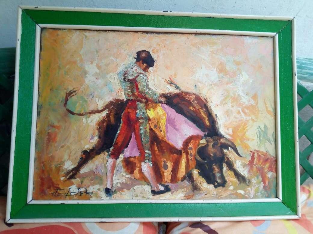 Imagen cuadros del pintor jerezano jologa, de los años 60