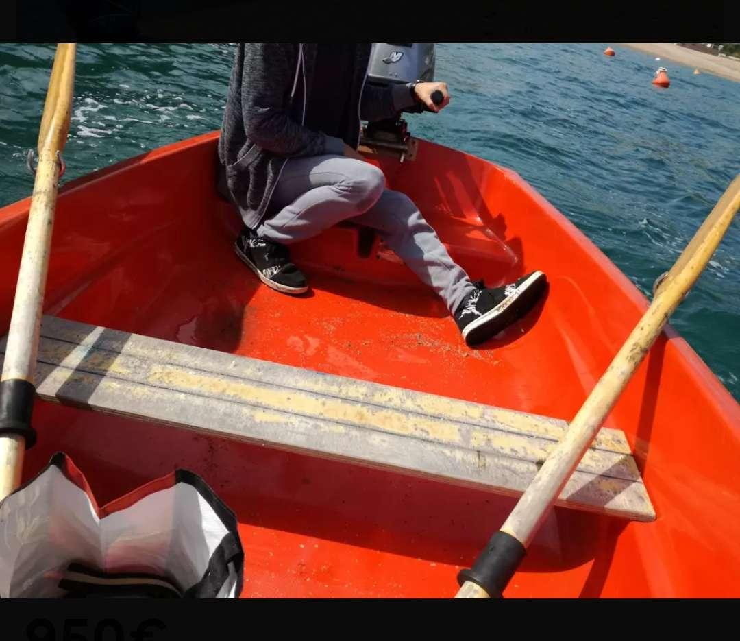 Imagen producto Barca de 2'6 con motor 4cv 4