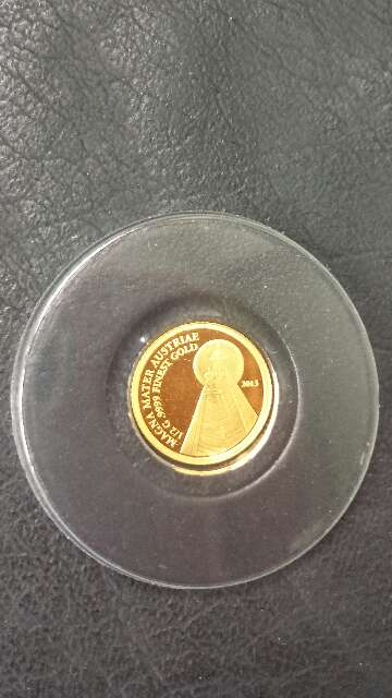 Imagen producto Moneda de oro puro 999 MAGNA MATER  3