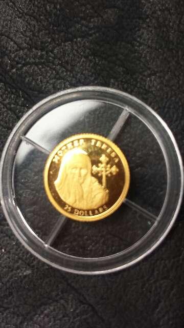 Imagen producto Moneda oro 999 Madre Teresa  3