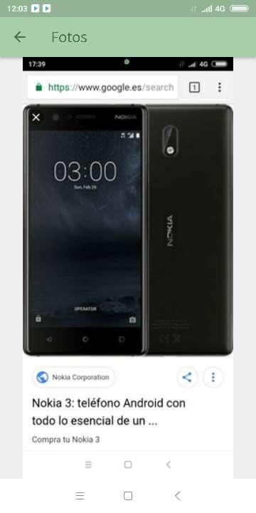 Imagen móvil  Nokia 3 negro