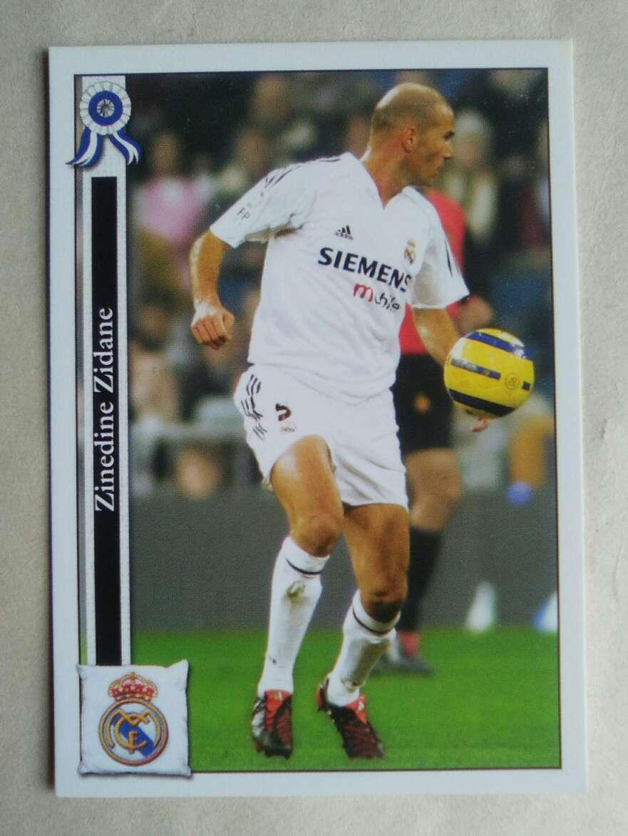Imagen Zidane card/cromo fútbol.