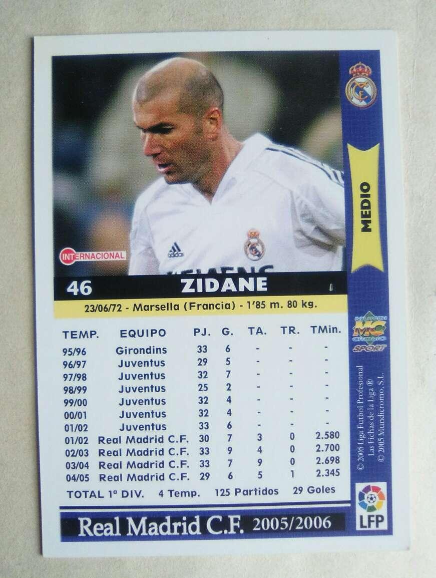 Imagen producto Zidane card/cromo fútbol. 2