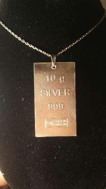 Imagen producto Colgante de plata pura 999  4
