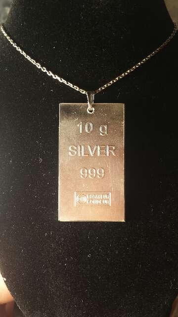 Imagen producto Colgante de plata pura 999  5