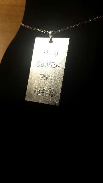 Imagen producto Colgante de plata pura 999  6