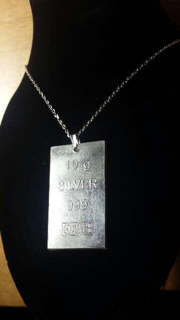 Imagen producto Colgante de plata pura 999  7