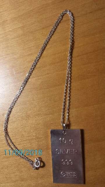 Imagen producto Colgante de plata pura 999  8