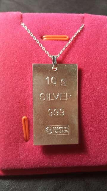 Imagen producto Colgante de plata pura 999  3