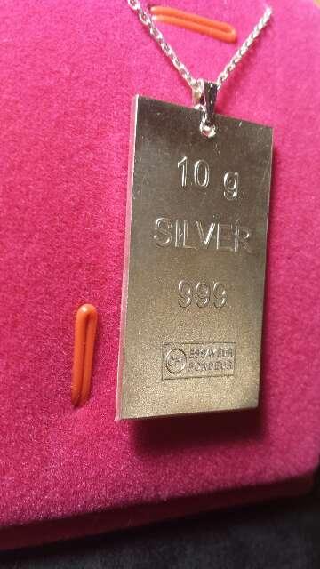 Imagen producto Colgante de plata pura 999  2
