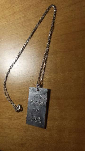 Imagen producto Colgante de plata pura 999  9
