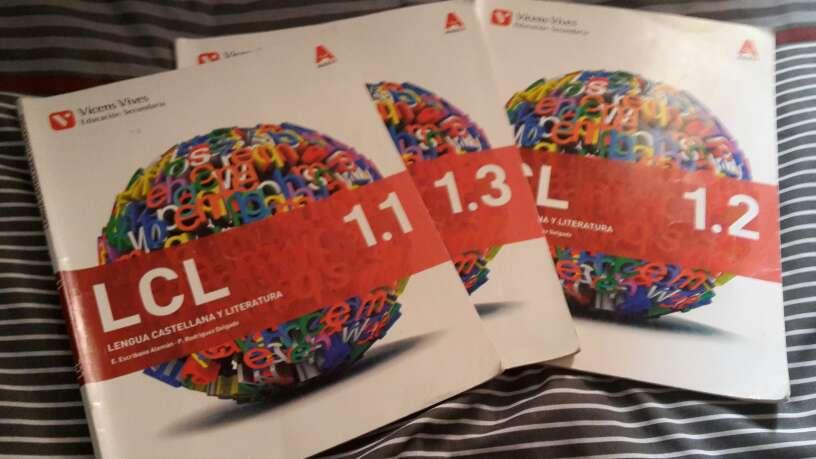Imagen libros de lengua de 1º de la ESO